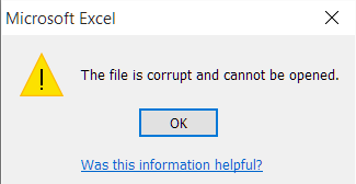Problem opening real estate documents + forms in Word and Excel message file is corrupt and cannot be opened file corrupted